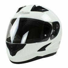 NITRO N2400 Full Face Moto Casco de Motocicleta-Blanco-Talla Mediana