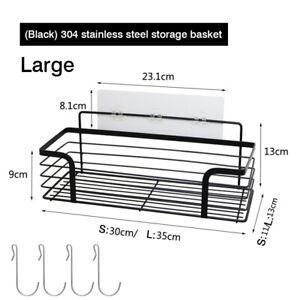 Shower Caddy Basket Shelf Holder Organizer,No Drilling Adhesive Stainless Steel
