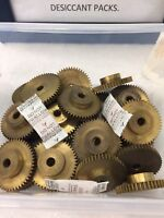 "BOSTON GEAR BRASS Y3248 SPUR PINION GEAR 32 PITCH 48 TEETH 1/4"" BORE CLOCK LATHE"