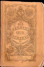 1870 Old Farmer's Almanac