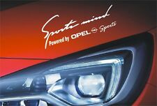 Sports Mind Powered by Opel sports Logo Aufkleber Corsa Astra Insignia Vectra...