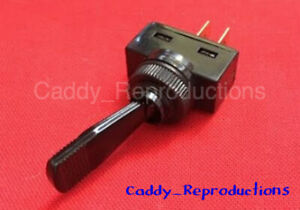 1941 - 1966 Cadillac Black Toggle Switch Universal with on / off plate 6V or 12V