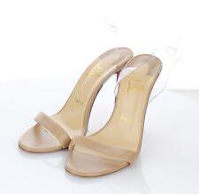 U10 $795 Women 38M Christian Louboutin Jonatina 100 Leather Ankle-Strap Sandal