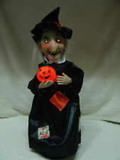 HALLOWEEN ANIMATED HAUNTED WITCH EYES LIGHT UP WITH EERIE SOUNDS PROP FREE SHIP