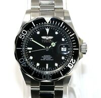 Invicta Men's 8926A Automatic Pro Diver Silver Black Stainless Steel Watch NEW!