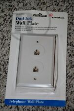 Radio Shack 279-450 White Dual Jack Wall Plate