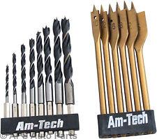 14pc GAMBO ESAGONALE TRAPANO legno Set di fresatura ACCIAIO 3-10mm legno 10-25mm Nuovo strumento