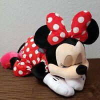 "Disney Parks 22"" Sleeping Minnie Mouse Dream Friends Sleeping Plush Pillow Doll"