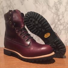 $500 TIMBERLAND BURGUNDY HORWEEN LEATHER 8 INCH BOOT MADE IN USA A1JXM648 SZ:12