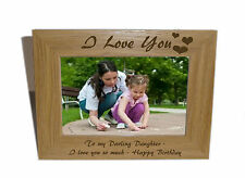 I Love You Wooden Photo Frame 6x4 - Personalise this frame-Free Engraving