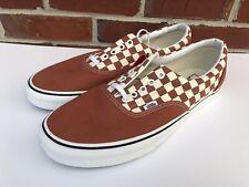 e7834827f0 Vans Era 2 Tone Checkerboard Auburn Burnt Orange Men s Size 13