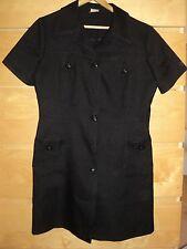 Vintage Rockabilly Style Black Dress Size M