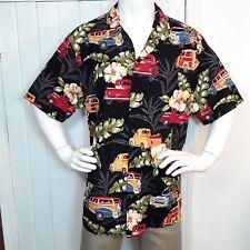 RJC Hawaiian Shirt Mens XXL Woodie Cars Vintage Classic Retro Trucks Aloha USA