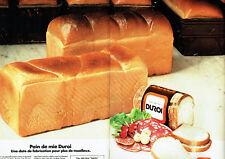 Publicité Advertising 068  1981   pain de mie Duroi ( 2 pages)