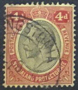 NYASALAND 1921 SG106. 4d MULTIPLE SCRIPT WATERMARK .FINE USED..CAT £11