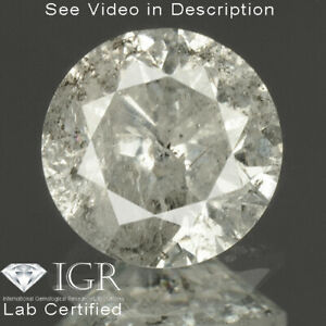0.69 cts CERTIFIED Round Brilliant Cut White-I Color Loose Natural Diamond 25087