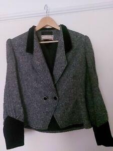 MANSFIELD jacket velvet SIZE uk 8/10 ORIGINAL vintage woven in Scotland