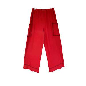 Blue Fish Straight Leg Pant -2- Unprinted Red Thermal Cotton/Spandex