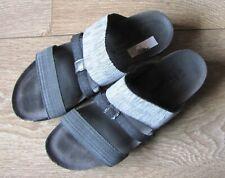 Naot Women's Sandals 39 US 8 Black Gray Slip On Israel