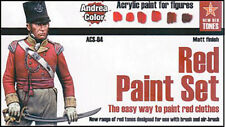 Andrea Miniatures AND-ACS-004 Andrea Color Red Paint Set