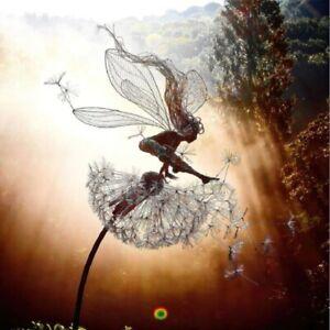 Fairies Dandelions Dance Together Statue Ornament Garden Sculpture Landscape
