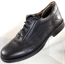 $110 ALFANI Men's Size 10 Black Soft Leather Oxfords Lace Up Rubber Soled Shoes