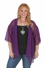 Chiffon Machine Washable Solid Coats, Jackets & Vests for Women