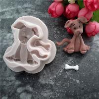 Silicone 3D Dog Fondant Cake Moulds Decor Mold Chocolate Baking Mold Tool DB