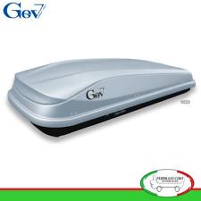 Gev 9020 - BOX BAULE UNIVERSALE PORTABAGAGLI TETTO AUTO EASY 480 LT LITRI GRIGIO