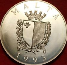 Uncirculated 1993 Malta 2 Ecu Clad Foreign Coin