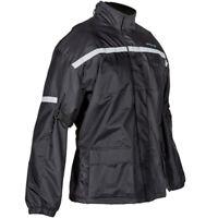 Spada Aqua Quilt Waterproof Motorcycle Motorbike Over Jacket CE Armour Black