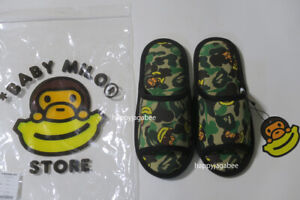 * A BATHING APE BABY MILO STORE SLIPPERS New