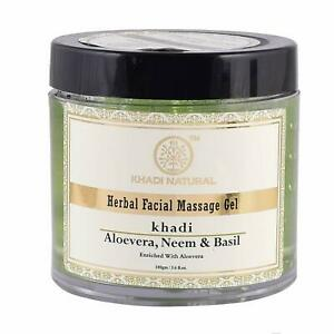 Khadi Natural Ayurvedic Aloevera Neem and Basil F.Mass.Gel, 100g   Free Shipping