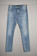 SILVER JEANS $89 Frisco High Rise Tapered Leg Jean Distressed Size 27