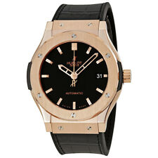 Hublot Classic Fusion 18kt Gold Black Dial Mens Watch 511.OX.1180.LR