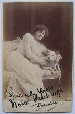 VIOLET VANBRUGH  ENGLISH THEATRE ACTRESS ALBUMEN CABINET  CARD PHOTOGRAPH SIGNED