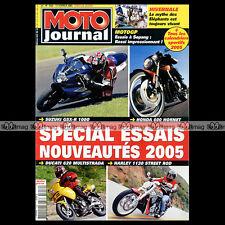 MOTO JOURNAL N°1652 DUCATI 620 MULTISTRADA HARLEY STREET ROD SUZUKI GSXR 1000