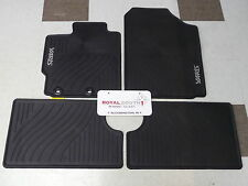 Toyota Yaris Factory All Weather Rubber Floor Mats Genuine OEM OE