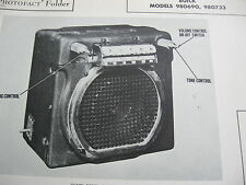 1946, 1947, 1948  BUICK 980690 & 980733 RADIO PHOTOFACT