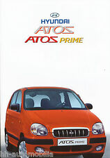 Hyundai Atos Prime folleto 5/02 brochure 2002 auto turismos corea asia folleto