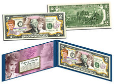 "$2""NEW ITEM -**LUCILLE BALL*-100 TH.BIRTHDAY*- Legal US 2 DOLLAR BILL GIFT MONEY"