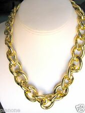 "Chunky Goldtone Chain Necklace 18"" plus Extender .75"" Links"