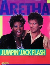 Aretha Franklin & Keith Richards 1986 Jumpin' Jack Flash Original Promo Poster