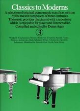 Classics to Moderns Book 3 Piano (Paperback), Yorktown Music Press, 97808600140.