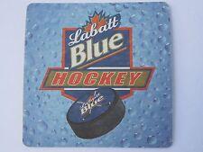 Beer Pub Bar Coaster ><  Labatt's Blue >< 2003-04 Hockey Schdule -Canada Brewery