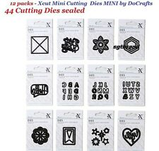 12 packs Docrafts Xcut 44 Mini Cutting Dies Doily Circles Labels GIFT TAGS HEART