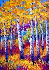 Toland Home Garden Blissful Birches 28 x 40-Inch Decorative Usa-Produced House F