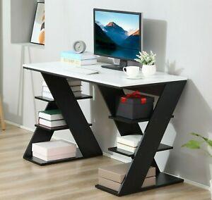Stunning Home Office Desk Large Storage Shelves Laptop Workstation Writing Table