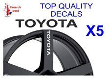 5 X Pegatina de calcomanías de Rueda de Aleación Toyota
