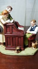 Vintage Norman Rockwell The Marriage License Figurine 1982 Gorham-Taiwan